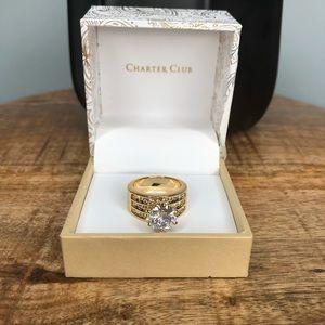 Charter Club Gold CZ Ring